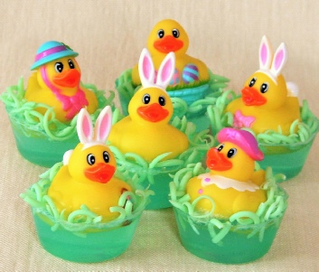 easter bunny rubber duckie toy soaps
