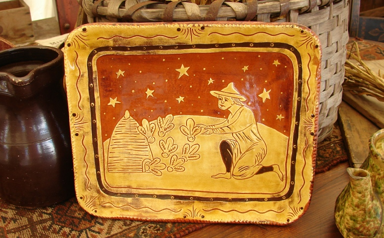 Redware platter by Kulina Folk Art