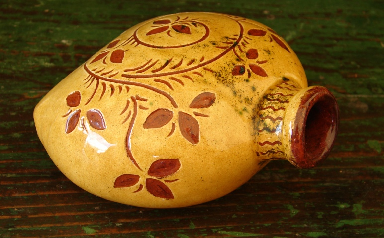 redware flask by Kulina Folk Art