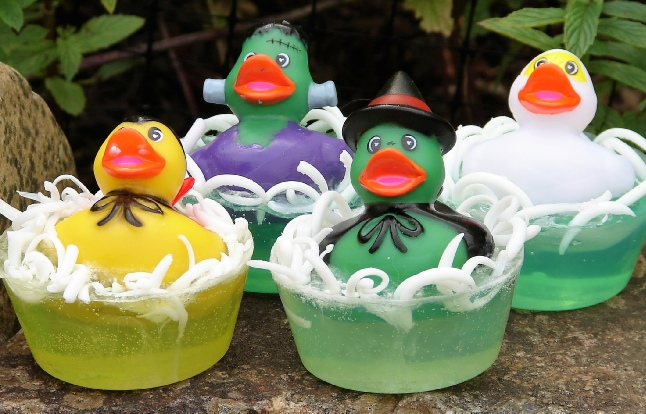 Kulina Alchemy Halloween monsters rubber duckie soaps