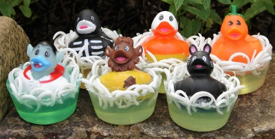 Halloween rubber duckie toy soaps