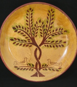 redware charger tree of life