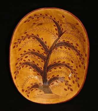 redware trencher, tree of life